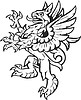 Vector clipart: heraldic gryphon as supporter