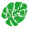 Vector clipart: Ecology Logo. Design of natural eco-friendly produc