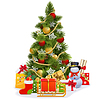 Vector clipart: Christmas Tree with Sledge
