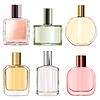 Vector clipart: Female Perfume Icons