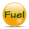 Vector clipart: Orange icon with shadow fuel eps10