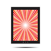 Vector clipart: Tablet with retro splash