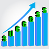 Vector clipart: Growth chart success