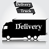 Vector clipart: Icon truck on gray background Delivery Ser